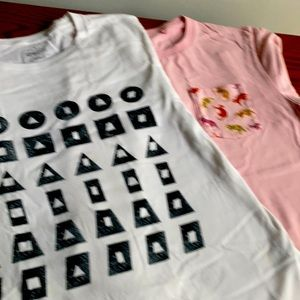 2 Limited Edition Uniqlo Tee Shirts